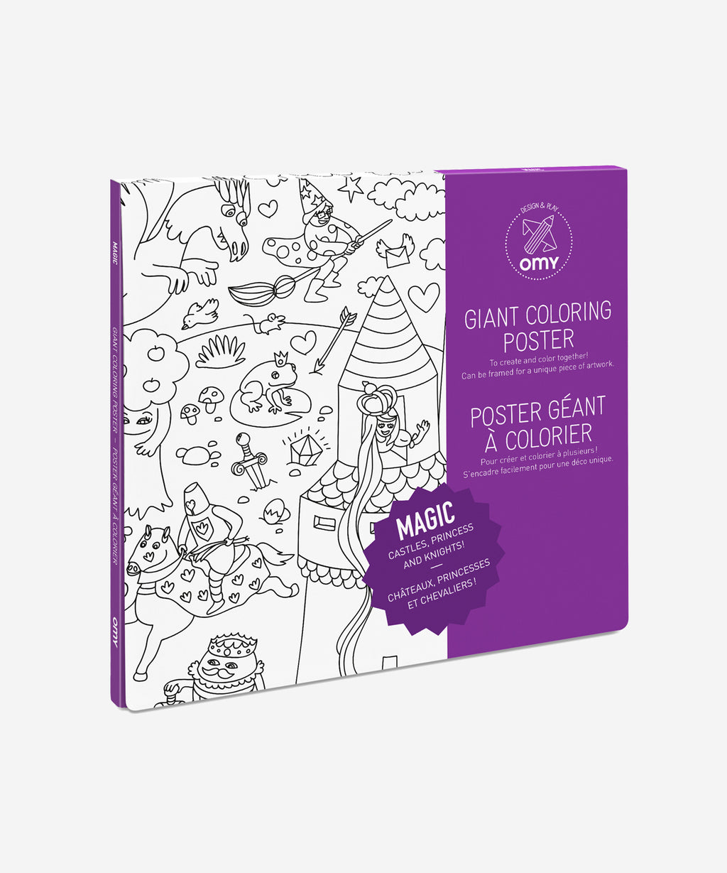 OMY Giant Coloring Poster - Magic