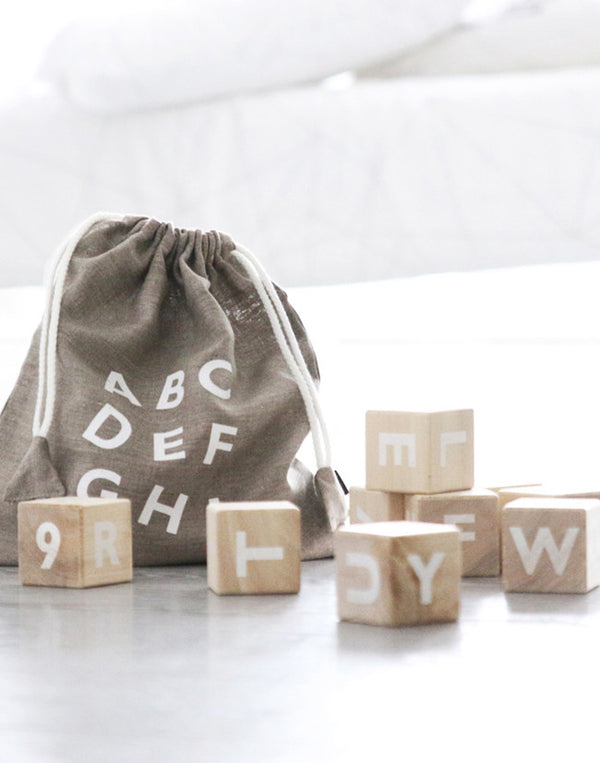 OOH NOO - Alphabet Blocks - White - beetlesandbugs.com
