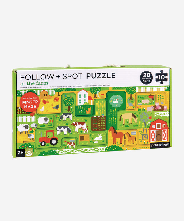 PetitCollage - Follow & Spot Puzzle - At The Farm