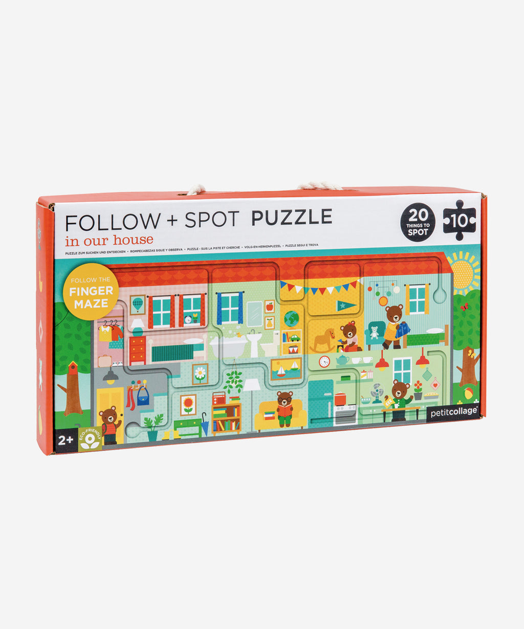 PetitCollage - Follow & Spot Puzzle - In Our House