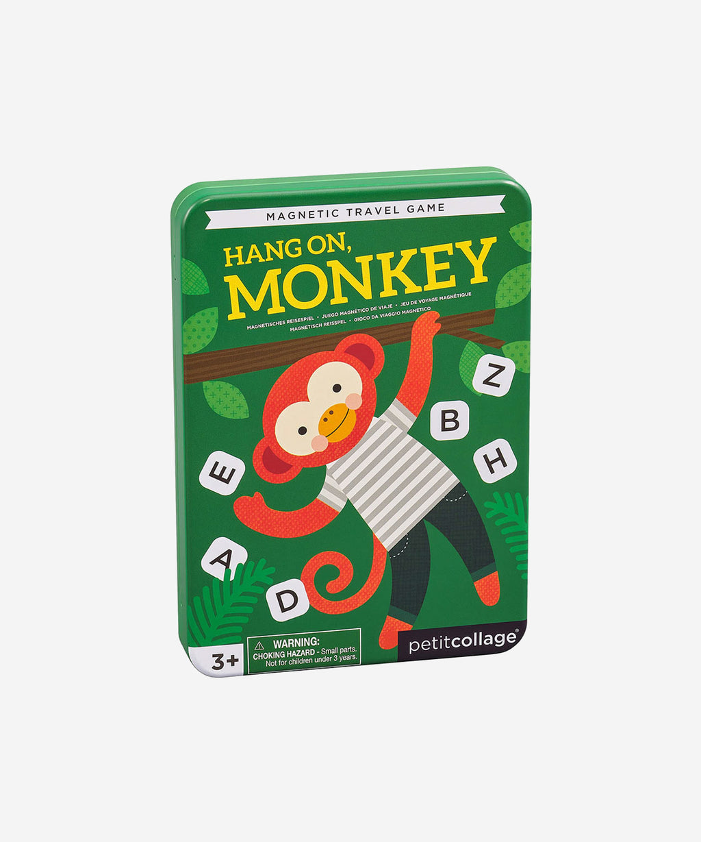 PetitCollage - Magnetic Tin Travel Game - Hang on Monkey