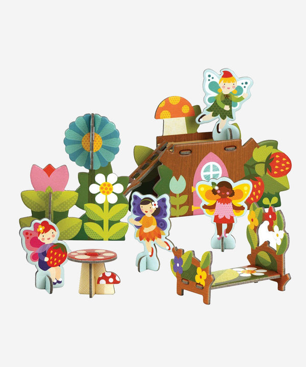 PetitCollage - Pop Out & Build - Fairies Nature Playset