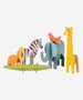 PetitCollage - Pop Out & Build - Safari Animals Playset