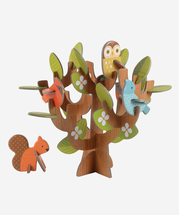PetitCollage - Pop Out & Build - Tree & Animals Playset