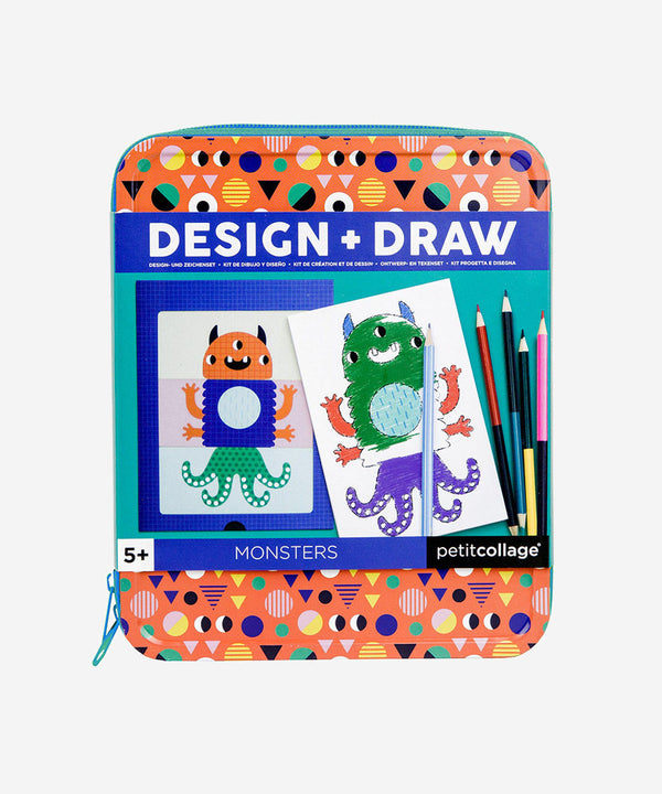 Petitcollage - Travel Kit - Design & Draw Monsters