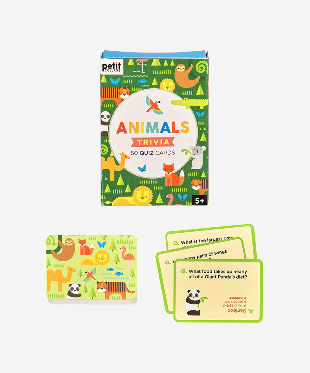 Petitcollage - Trivia Quiz Cards - Animals