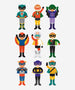Petitcollage - Magnetic Dress Up - Superheroes