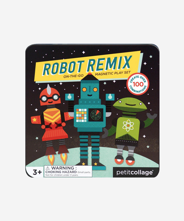 Petitcollage - Magnetic Play Set - Robot Remix Mix & Match