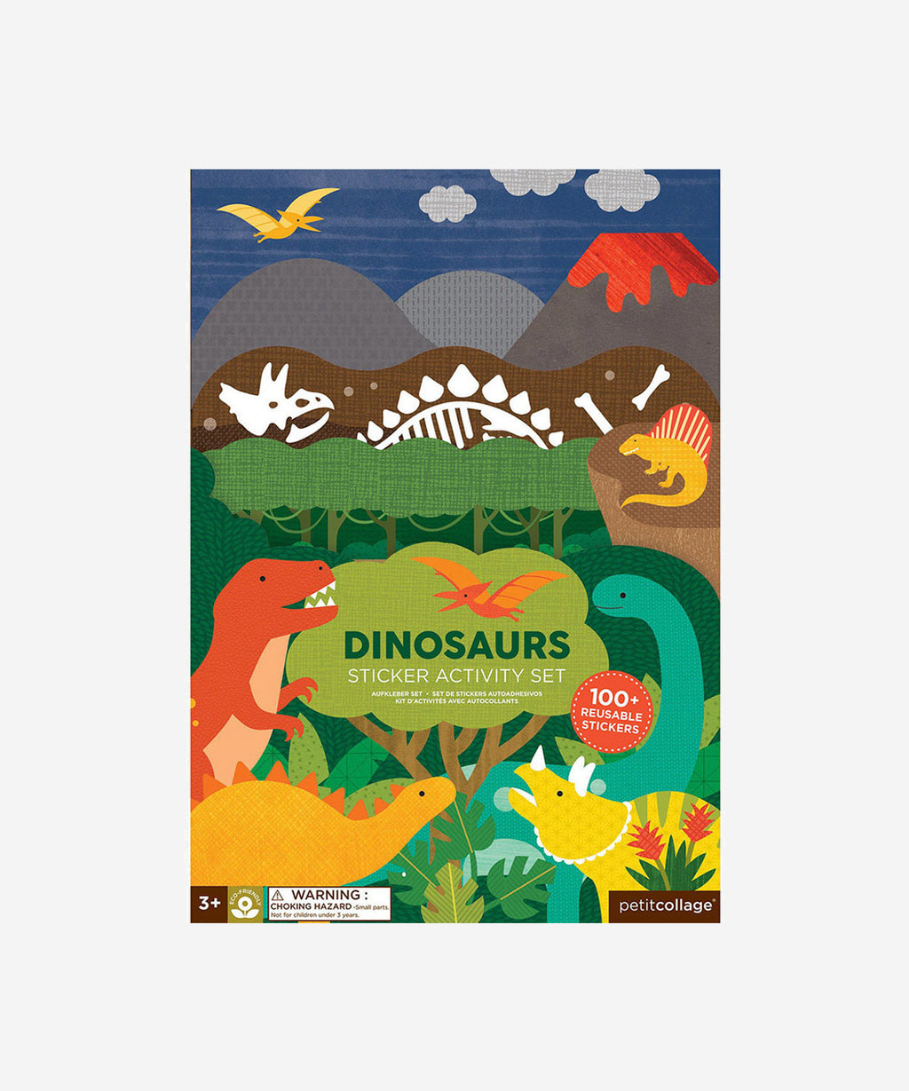 Petitcollage - Sticker Activity Set - Dinosaurs
