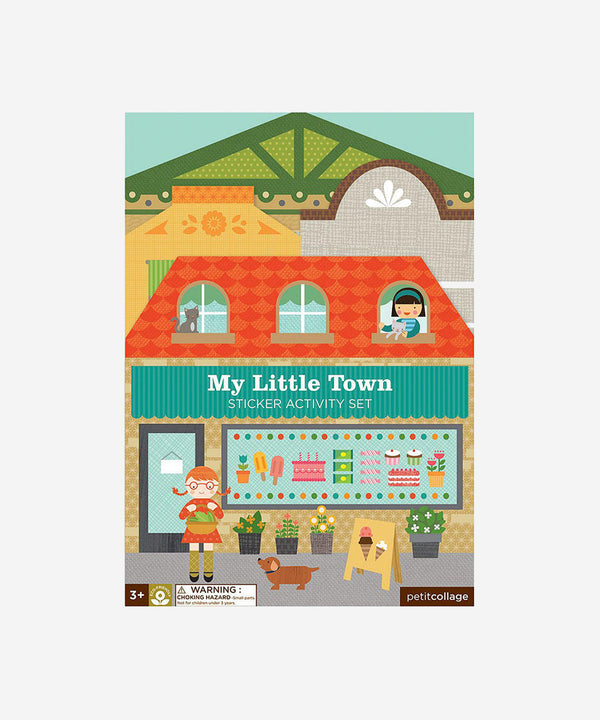 Petitcollage - Sticker Activity Set - My Little Town