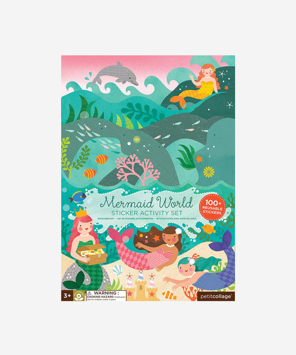 Petitcollage - Sticker Activity Set - Mermaid World