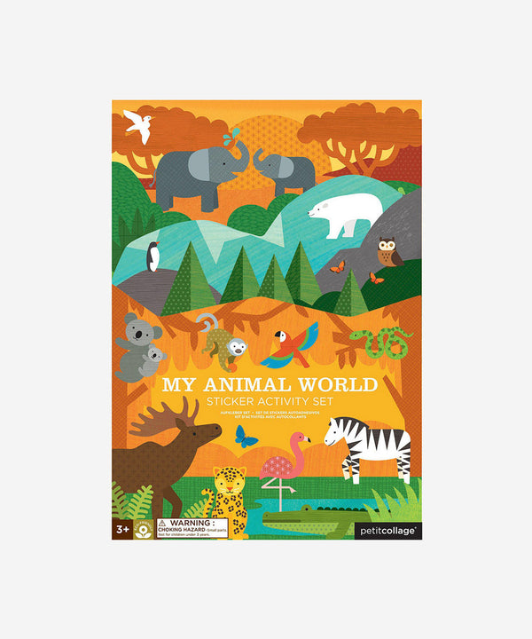 Petitcollage - Sticker Activity Set - My Animal World