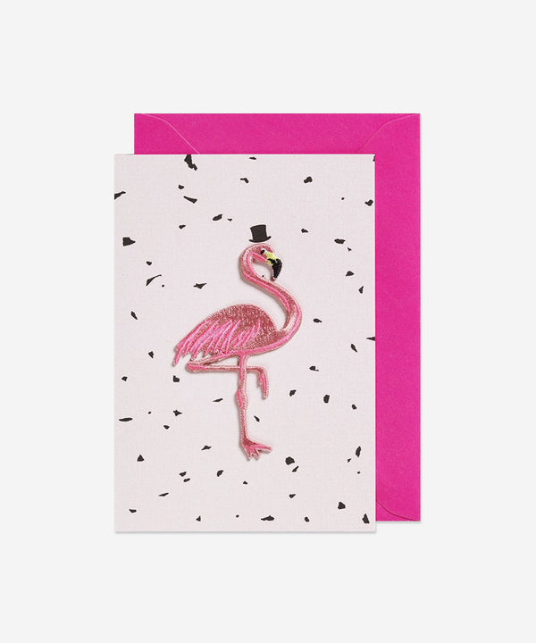 Petra Boase - Iron on Patch Card - Flamingo Pink