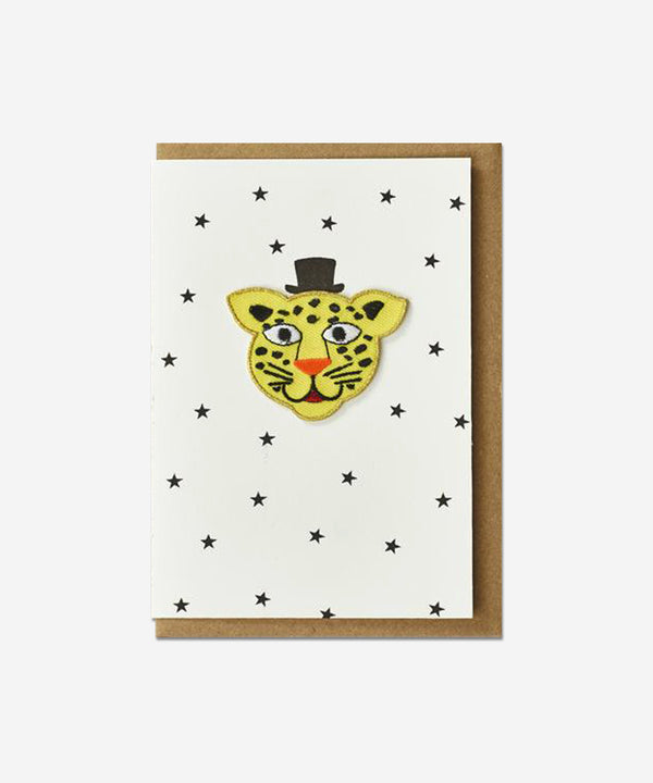 Petra Boase - Iron on Patch Card - Leopard