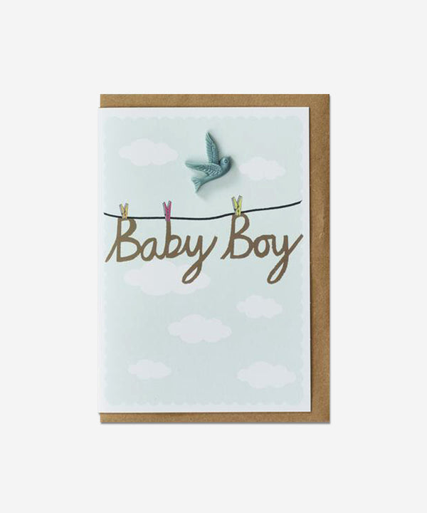 Petra Boase - Resin Card - Baby Boy