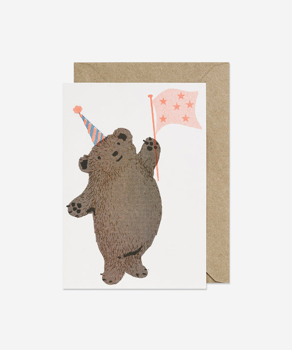 Petra Boase - Riso Pets Card - Party Bear