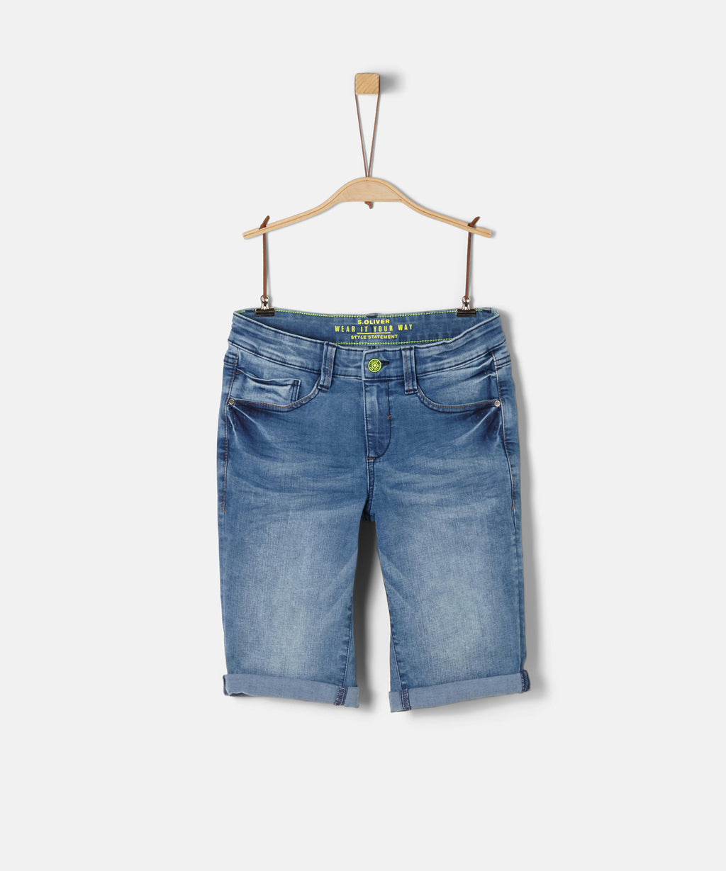 S.OLIVER BOY BERMUDA DENIM SHORTS REG.