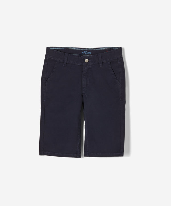 S.OLIVER Boys Seattle Canvas Bermuda Shorts Navy Blue