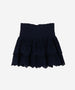 S.OLIVER Girls Broderie Anglaise Smocked Skirt Navy