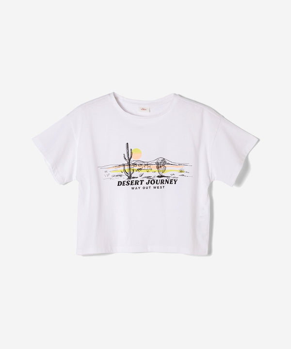 S.OLIVER Girls T-Shirt Desert Journey White