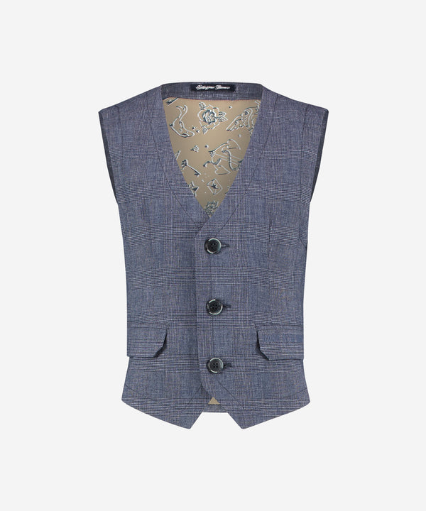 VINGINO Boys - Narejo Vest - Checkered Dark Blue