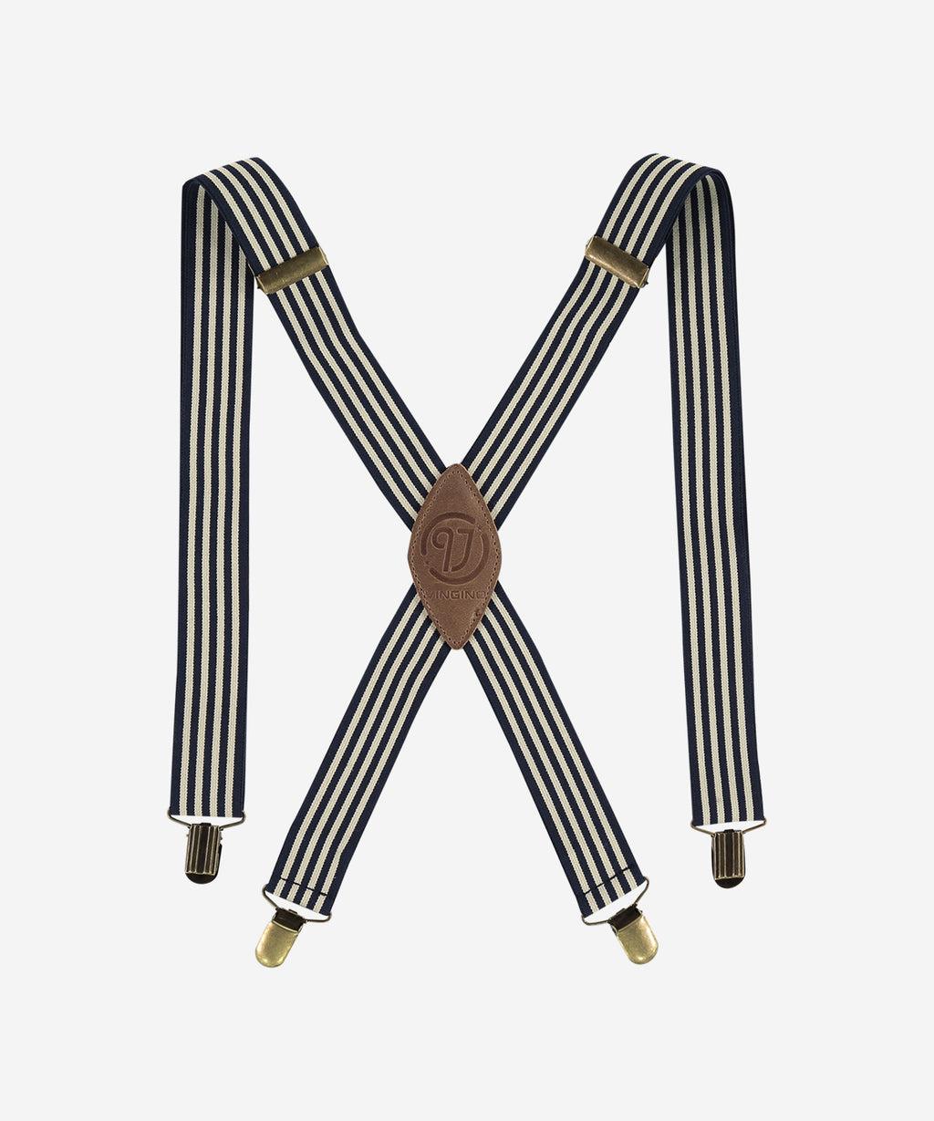 VINGINO Boys - Vedro Suspenders - Stripe Dark Blue