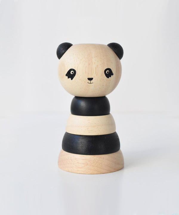 Wee Gallery - Wood Stacker - Panda