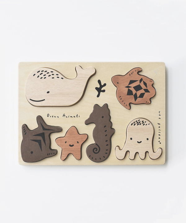 Wee Gallery - Wooden Tray Puzzle - Ocean Animals