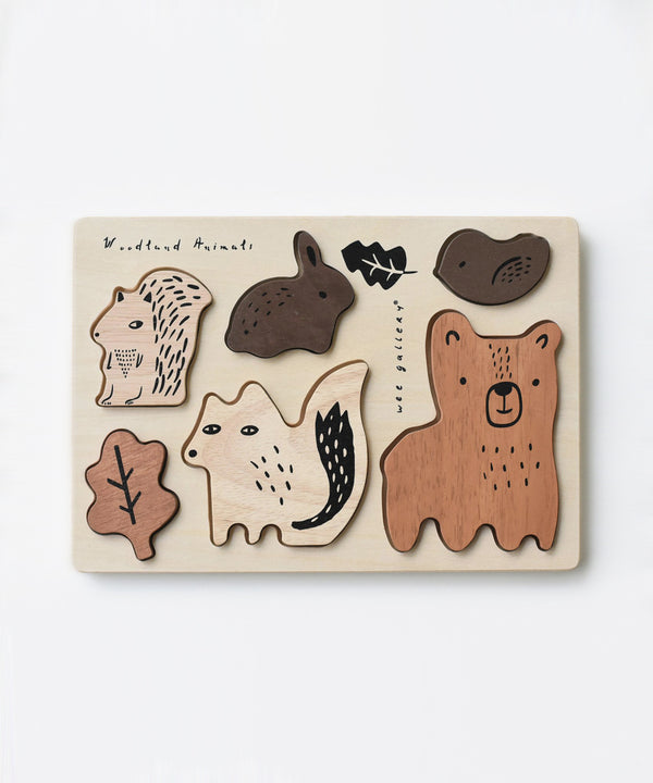 Wee Gallery - Wooden Tray Puzzle - Woodland Animals