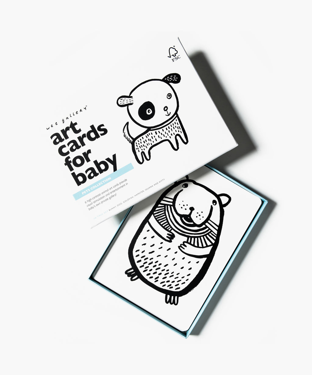 Wee Gallery - Art Cards For Baby - Pets Collection