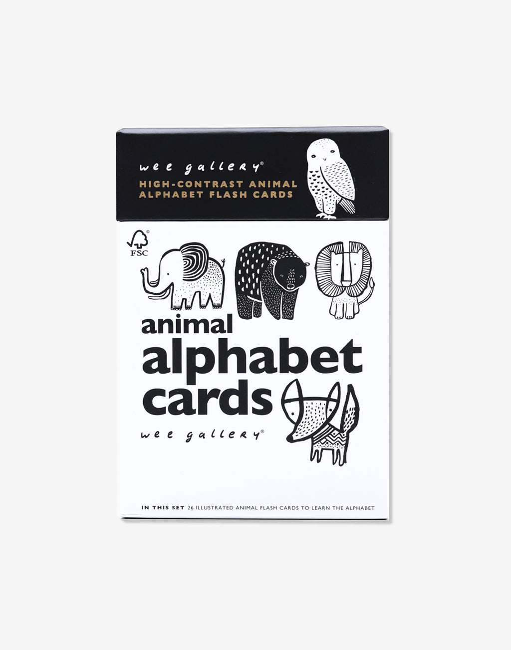 Wee Gallery - Animal Alphabet Cards