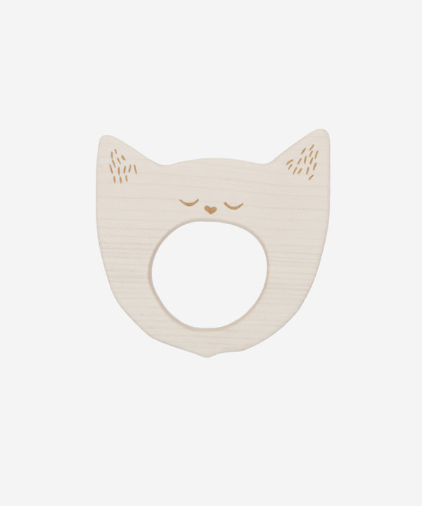 Wooden Story - Teether Yawning Cat