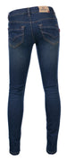 BLUE REBEL GIRLS JEANS CASTLE COMFY ULTRA SKINNY FIT CREA WASH BLUE