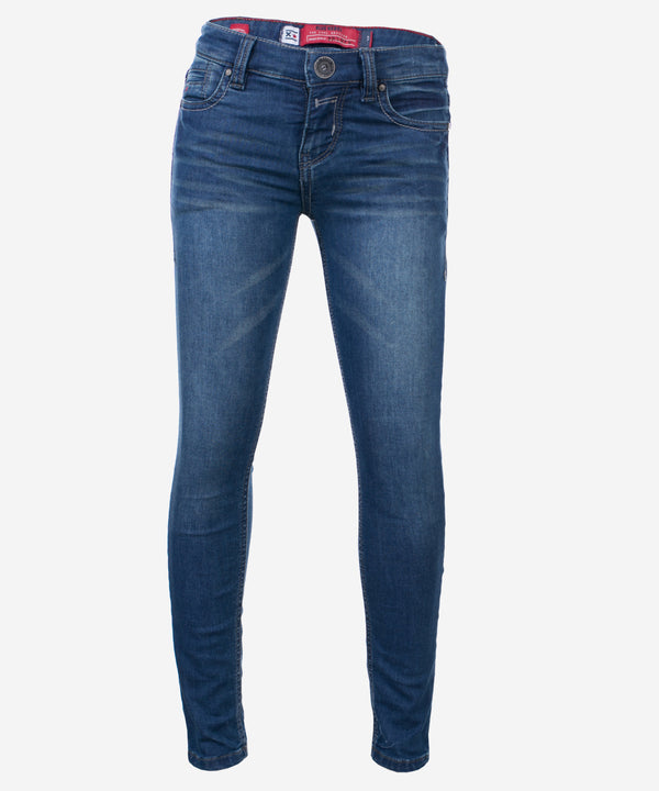 BLUE REBEL GIRLS JEANS CASTLE COMFY ULTRA SKINNY FIT CIVIL WASH BLUE