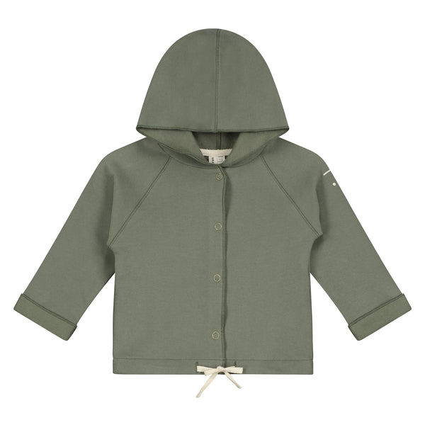 GRAY LABEL MINIATURE BABY HOODED CARDIGAN MOSS GREEN