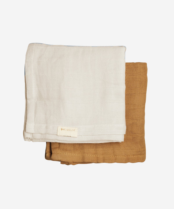 Fabelab - Muslin Cloth 2 Pack - Fawn