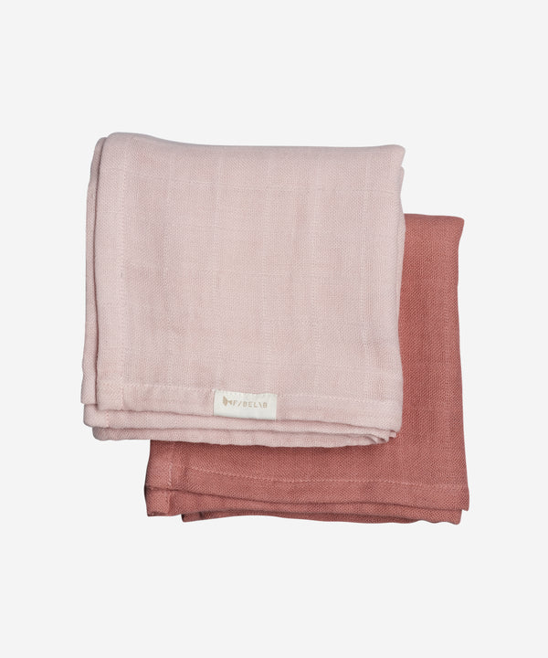 Fabelab - Muslin Cloth 2 Pack - Berry