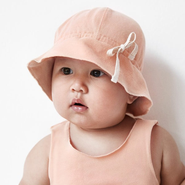 GRAY LABEL MINIATURE BABY SUN HAT RUSTIC CLAY PINK