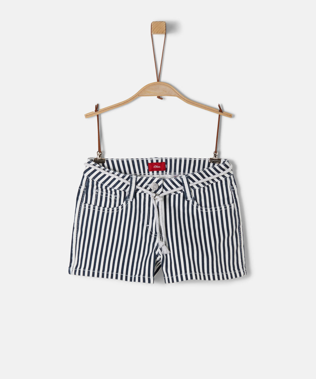 S.OLIVER GIRL SHORTS MARINE STRIPE REG.