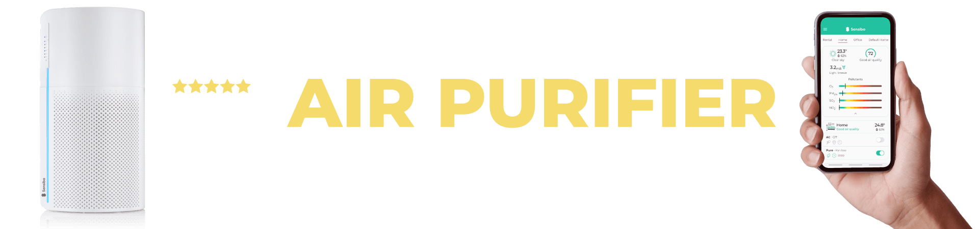 Sensibo app controlled air purifier with smart sensing technology