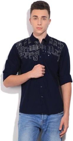 Men Black casual shirt