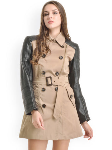 Kazo Beige & Black Overcoat