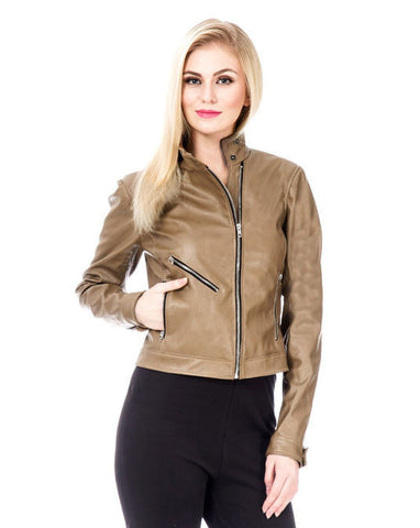 Brown Biker's Jacket