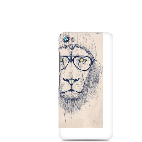 Canvas Fire 4 Lion with Glasses