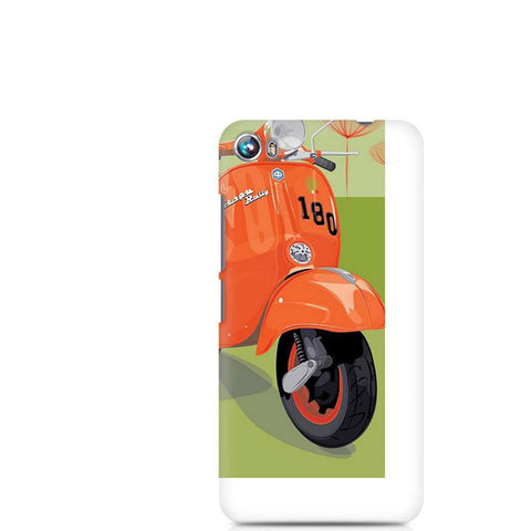Canvas Fire 4 Orange Vespa