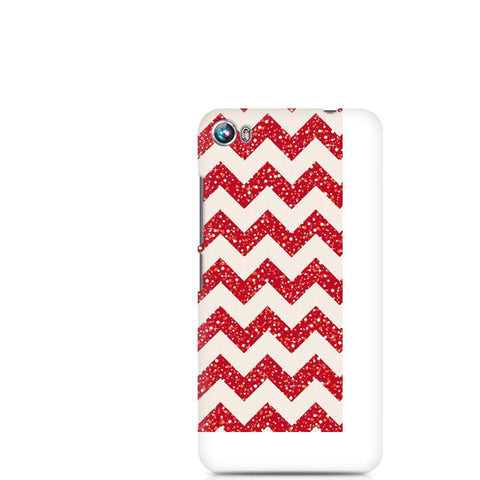 Canvas Fire 4 Red Glitter Chevron