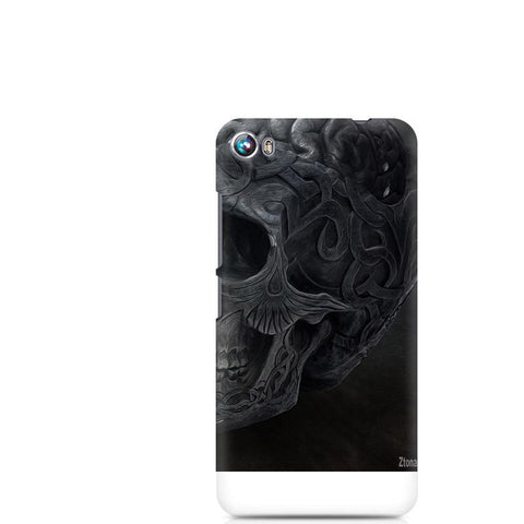 Canvas Fire 4 Skull Brain