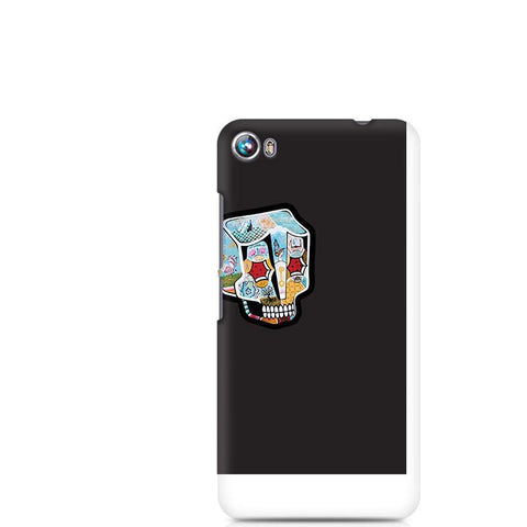 Canvas Fire 4 Skull Cartoon