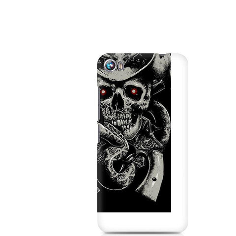 Canvas Fire 4 Skull Fear