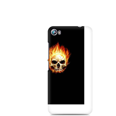 Canvas Fire 4 Skull in Flames